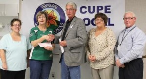 Photo CUPE Supporting Gainsborough Flood Relief (Oct  17 2014)