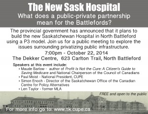 SK Hospital P3 town hall_North Battleford_Oct 22 2014