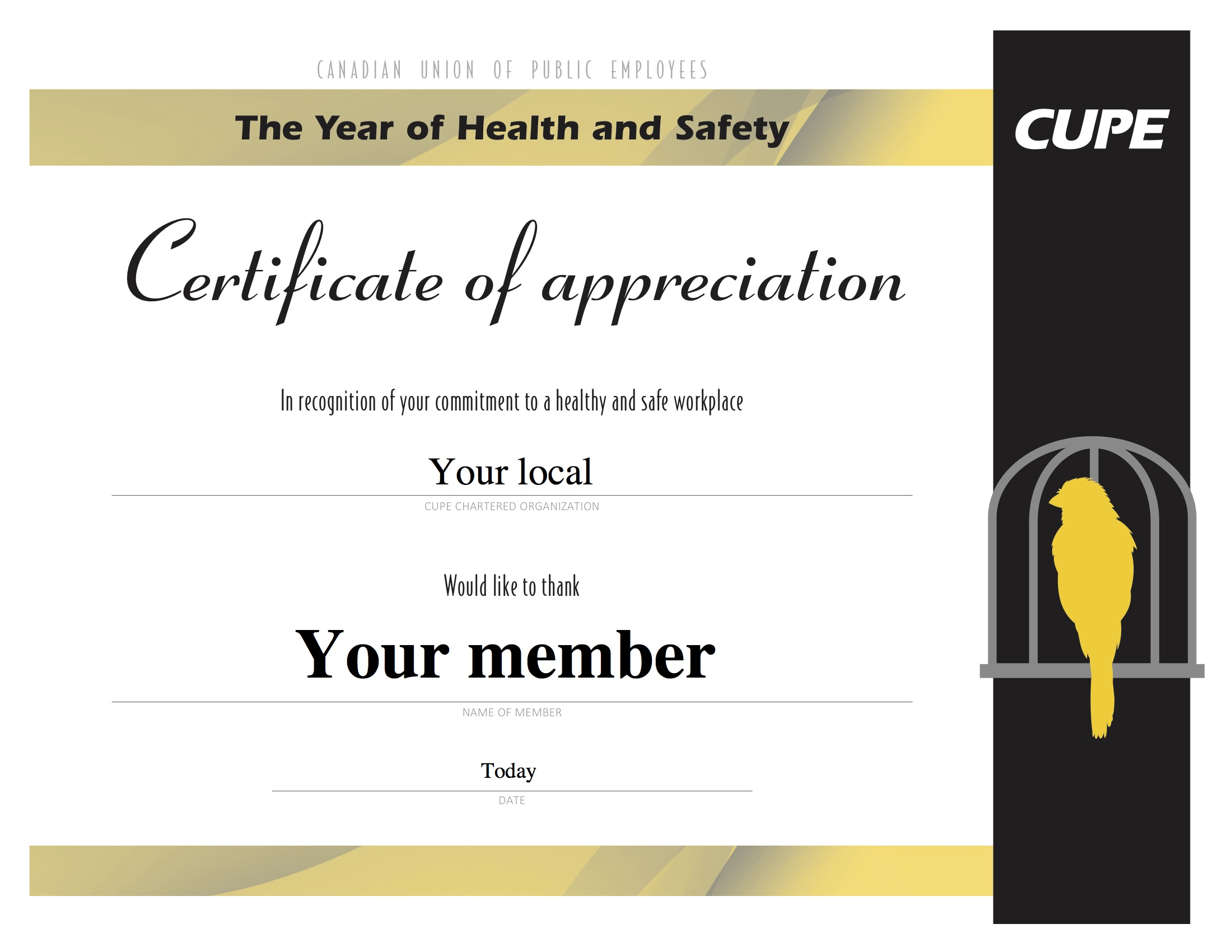 Celebrate Health And Safety Activists In Your Local With