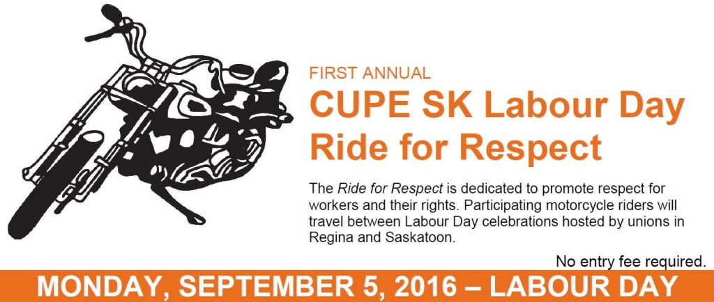 Labour Day Ride for Respect Banner